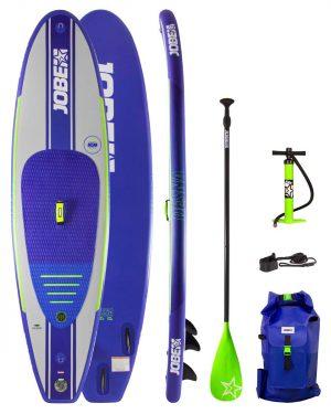 Jobe Desna 10.0 Aufblasbares SUP Board (blau) + Zubehör Paket
