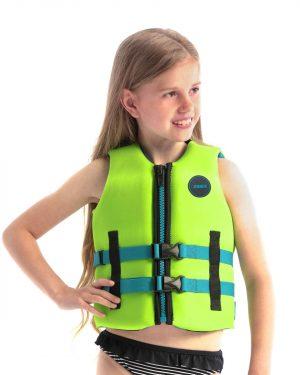 Jobe Neopren Schwimmweste Kinder Limettengrün